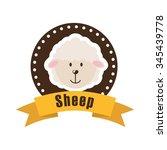 farm animals design  vector... | Shutterstock .eps vector #345439778