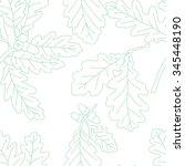 seamless oak leaves on a white... | Shutterstock .eps vector #345448190