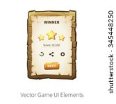 win. level completed. vector...