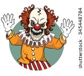 clown angry. face horror and... | Shutterstock .eps vector #345448784