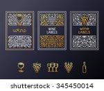 vector set of design elements... | Shutterstock .eps vector #345450014