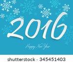 happy new year elegant withe... | Shutterstock .eps vector #345451403
