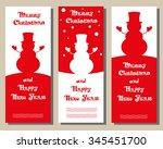 set vector christmas banner...   Shutterstock .eps vector #345451700