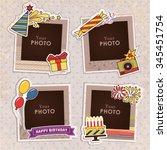 design photo frames on nice... | Shutterstock .eps vector #345451754