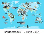 Animals World Map. Animals...