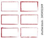 set of six red rectangles | Shutterstock .eps vector #345452249