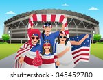 a vector illustration of soccer ... | Shutterstock .eps vector #345452780