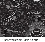 endless food and drink texture... | Shutterstock .eps vector #345452858