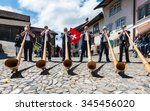 cheese festival  gruyere ...   Shutterstock . vector #345456020