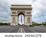 paris  france july 26  arc de... | Shutterstock . vector #345461378