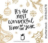it's the most wonderful time of ... | Shutterstock .eps vector #345463478