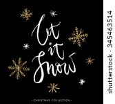 let it snow  christmas greeting ... | Shutterstock .eps vector #345463514