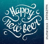 vector happy new beer winter... | Shutterstock .eps vector #345463994