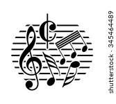 music note icon | Shutterstock .eps vector #345464489
