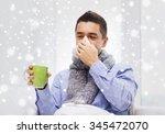 healthcare  flu  people ... | Shutterstock . vector #345472070
