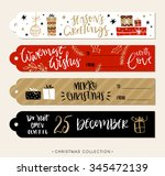 christmas gift tags and labels... | Shutterstock .eps vector #345472139