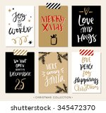 christmas gift tags and cards... | Shutterstock .eps vector #345472370