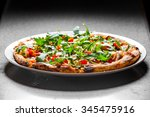 delicious appetizer on white... | Shutterstock . vector #345475916