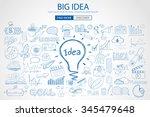 big idea concept background... | Shutterstock . vector #345479648