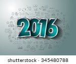 2016 business conceptual... | Shutterstock . vector #345480788