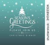 hand sketched seasons greetings ... | Shutterstock .eps vector #345485504