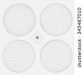 decorative sphere elements set... | Shutterstock .eps vector #345487010