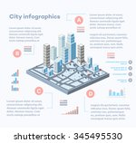 city infographics consisting of ... | Shutterstock . vector #345495530
