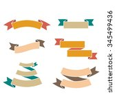 paper ribbons retro style set.... | Shutterstock .eps vector #345499436