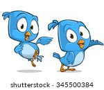 very adorable birds character... | Shutterstock .eps vector #345500384