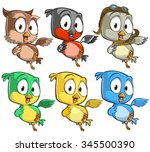 very adorable birds character...