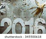 nye  glitter 2016 with confetti ...   Shutterstock . vector #345500618