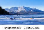 snow covered mountains at camp...   Shutterstock . vector #345502208