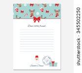 christmas letter from santa... | Shutterstock .eps vector #345502250