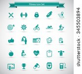 fitness icons set   set of... | Shutterstock .eps vector #345503894