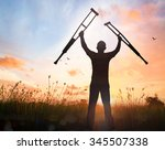 heal and rehabilitation concept ... | Shutterstock . vector #345507338
