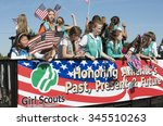 girl scouts of america in... | Shutterstock . vector #345510263