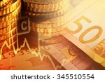 euro banknotes and coins.... | Shutterstock . vector #345510554