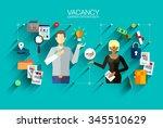 modern vector design recruiting ... | Shutterstock .eps vector #345510629