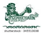 template logo irish pub style...   Shutterstock .eps vector #345513038