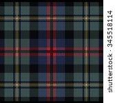 knitted plaid tartan pattern   Shutterstock .eps vector #345518114