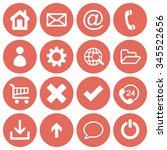 basic web icon set in round...