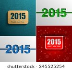 collection new year 2015 modern ... | Shutterstock .eps vector #345525254