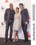 Small photo of LAS VEGAS , NOV 19 : Will Smith , Jada Pinkett and Willard Christopher Smith III pose in the press room during the 16th Annual Latin GRAMMY Awards on November 19 2015 in Las Vegas, Nevada