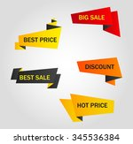 vector stickers  price tag ... | Shutterstock .eps vector #345536384