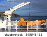 Safety Boat Lift On A Ship