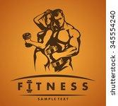 fitness logo | Shutterstock .eps vector #345554240