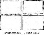 grunge frame texture set  ... | Shutterstock .eps vector #345556319