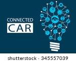 connected car and autonomous... | Shutterstock .eps vector #345557039