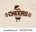 cheers logo print lettering... | Shutterstock .eps vector #345557444