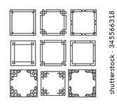 Asian Frame Ornament  Pattern...